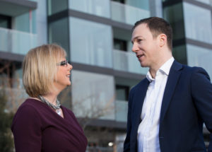 Regina Doherty, Minister for Employment Affairs and Social Protection with Declan Ryan, Managing Director at The Project Foundry