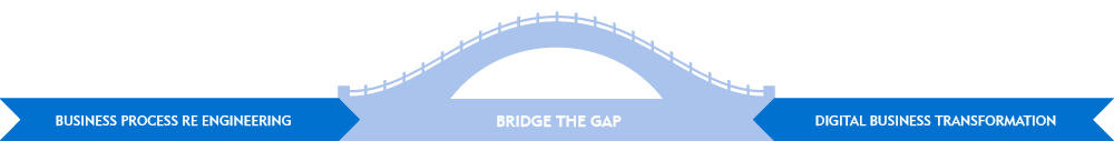 bridge the gap between business process and business transformation