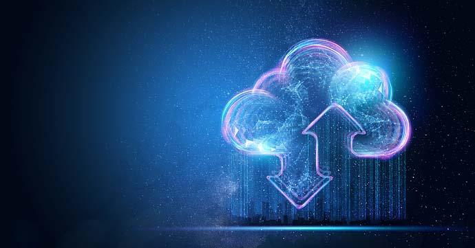 Cloud Icon - blue