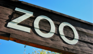 zoo entrance sign